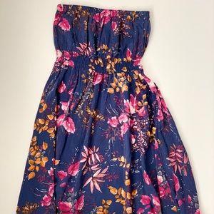 Hollister Heritage Blue/Floral Sleeveless Dress